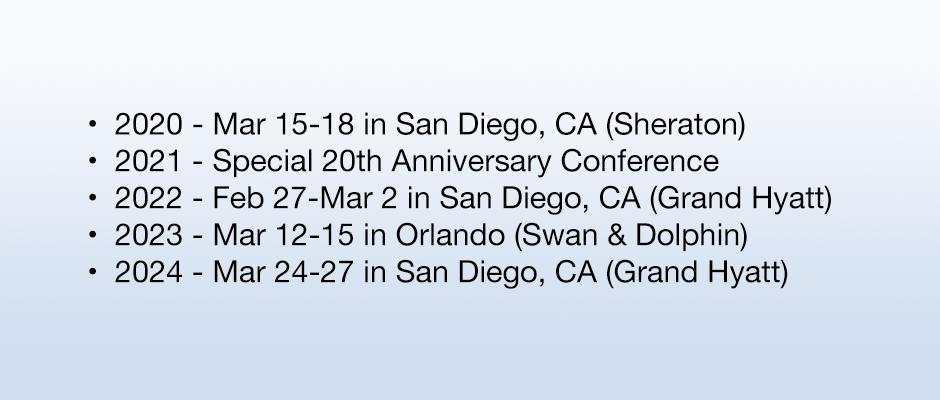 Future U.S. Conference Dates